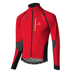 Löffler Bike Zip-off Jacke San Remo WS Softshell Light 15922 551 rot front